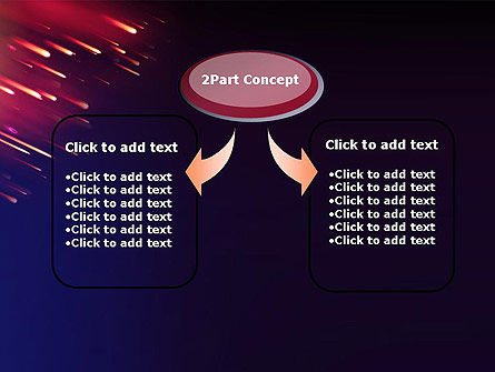 Meteor Rain PowerPoint Template, Slide 4, 12912, Technology and Science — PoweredTemplate.com
