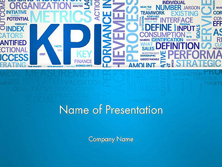 KPI Word Cloud PowerPoint Template