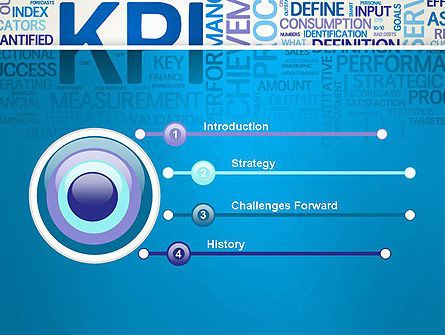 KPI Word Cloud PowerPoint Template Slide 3