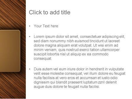 Wooden Background PowerPoint Template, Slide 3, 12914, Abstract/Textures — PoweredTemplate.com