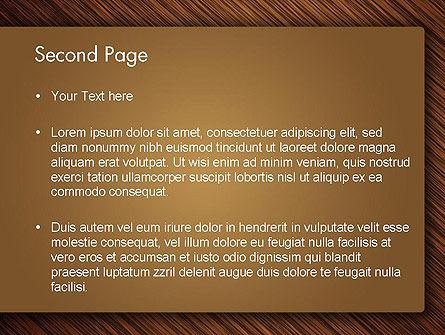 Wooden Background PowerPoint Template, Slide 2, 12914, Abstract/Textures — PoweredTemplate.com