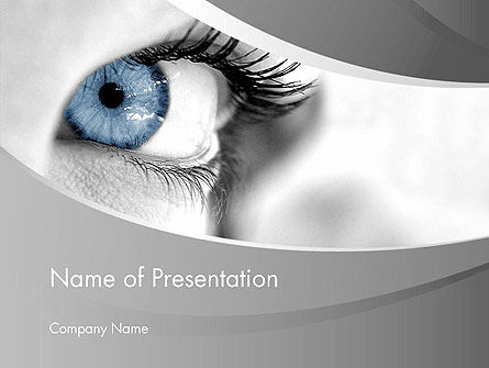 People: Closeup of Very Blue Eye PowerPoint Template #12916