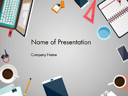 Workplace Concept PowerPoint Template, 12918, Careers/Industry — PoweredTemplate.com