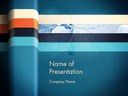 Business: Business Theme with Globe and Lines PowerPoint Template #12919