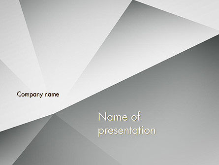 Gray Abstract Triangles PowerPoint Template, 12920, Abstract/Textures — PoweredTemplate.com