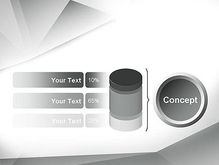 Gray Abstract Triangles PowerPoint Template Slide 11