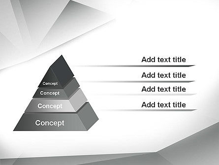 Gray Abstract Triangles PowerPoint Template Slide 12