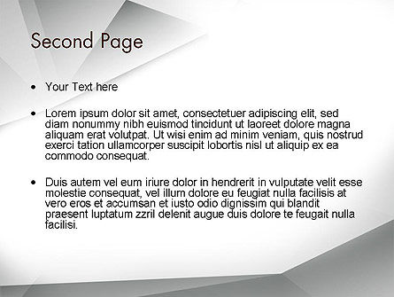 Gray Abstract Triangles PowerPoint Template Slide 2