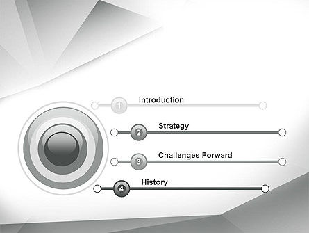 Gray Abstract Triangles PowerPoint Template Slide 3