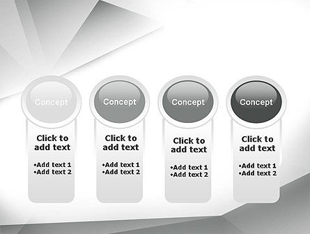 Gray Abstract Triangles PowerPoint Template Slide 5