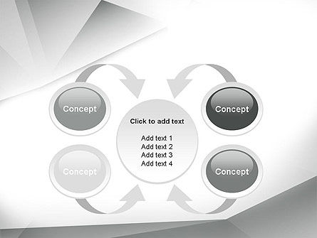 Gray Abstract Triangles PowerPoint Template Slide 6