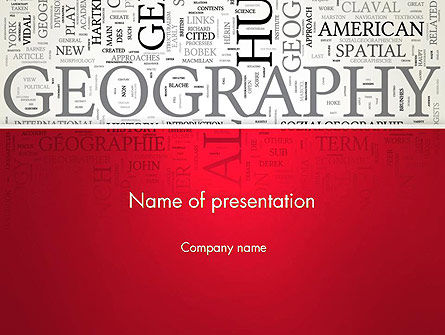 Geography Word Cloud PowerPoint Template, 12921, Education & Training — PoweredTemplate.com