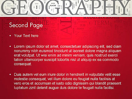 Geography Word Cloud PowerPoint Template Slide 2