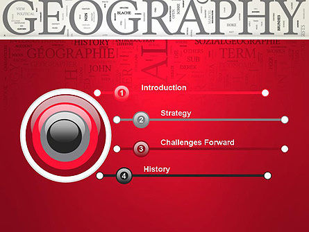 Geography Word Cloud PowerPoint Template, Slide 3, 12921, Education & Training — PoweredTemplate.com