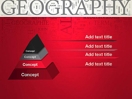 Geography Word Cloud PowerPoint Template Slide 4
