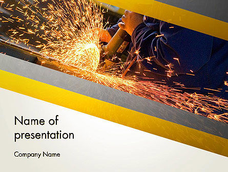 Grinding Steel PowerPoint Template