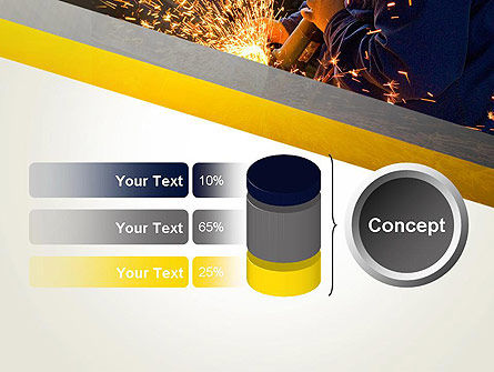 Grinding Steel PowerPoint Template Slide 11