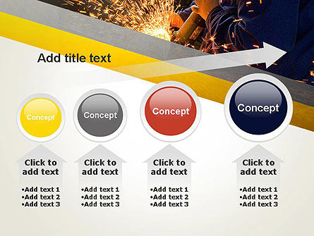 Grinding Steel PowerPoint Template Slide 13