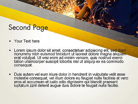 Grinding Steel PowerPoint Template Slide 2