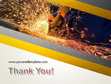 Grinding Steel PowerPoint Template Slide 20