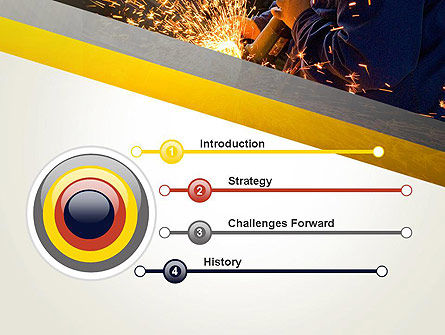 Grinding Steel PowerPoint Template Slide 3