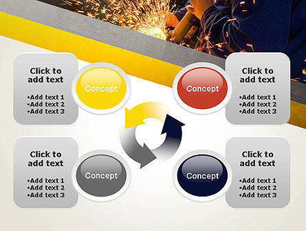Grinding Steel PowerPoint Template Slide 9