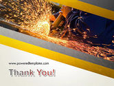 Grinding Steel PowerPoint Template#20