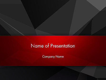 Dark Abstract Triangles PowerPoint Template