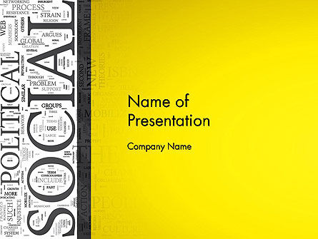 Education & Training: Social Word Cloud PowerPoint Template #12924