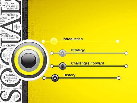 Social Word Cloud PowerPoint Template, Slide 3, 12924, Education & Training — PoweredTemplate.com