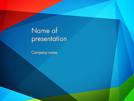 Abstract Colorful Geometric Figures PowerPoint Template