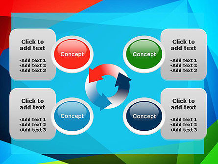 Abstract Colorful Geometric Figures PowerPoint Template Slide 9