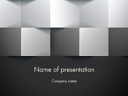 Gray Cubical Background PowerPoint Template, 12927, Abstract/Textures — PoweredTemplate.com