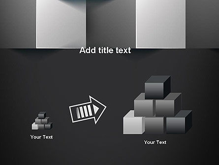 Gray Cubical Background PowerPoint Template Slide 13