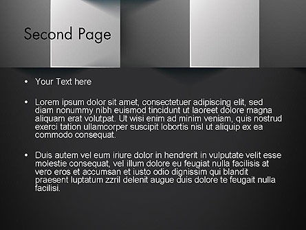 Gray Cubical Background PowerPoint Template, Slide 2, 12927, Abstract/Textures — PoweredTemplate.com