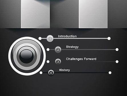 Gray Cubical Background PowerPoint Template Slide 3