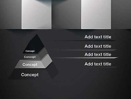 Gray Cubical Background PowerPoint Template, Slide 4, 12927, Abstract/Textures — PoweredTemplate.com
