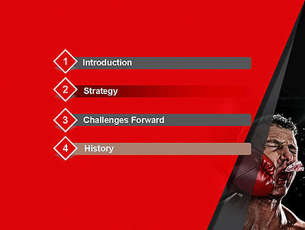Knockout PowerPoint Template, Slide 3, 12928, Sports — PoweredTemplate.com