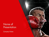 Sports: Knock Out PowerPoint Template #12928
