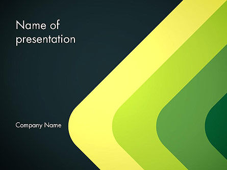 Abstract Green Corners PowerPoint Template