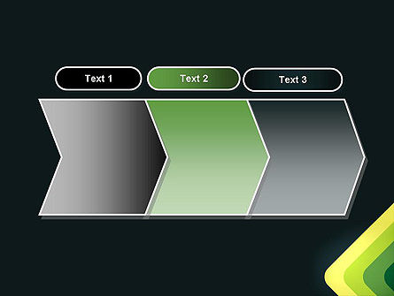 Abstract Green Corners PowerPoint Template Slide 16