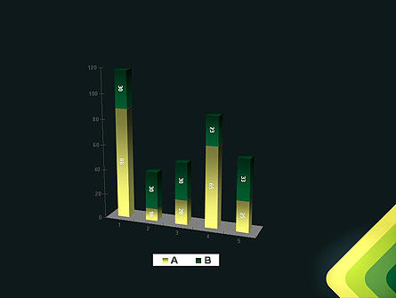 Abstract Green Corners PowerPoint Template Slide 17