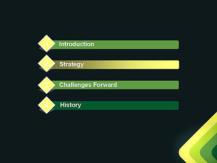 Abstract Green Corners PowerPoint Template Slide 3