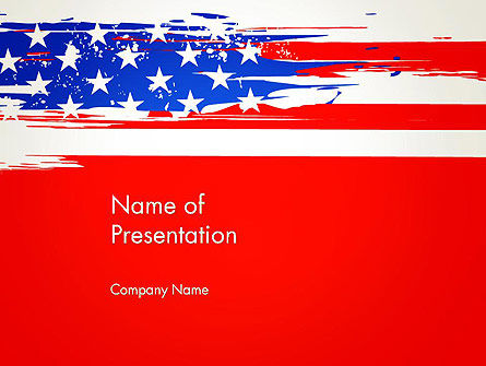 United States Flag Theme PowerPoint, 12931, America — PoweredTemplate.com