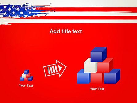 United States Flag Theme PowerPoint Slide 13