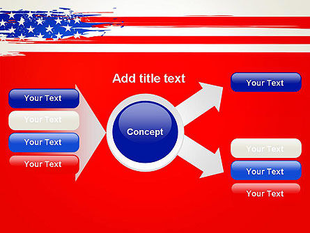 United States Flag Theme PowerPoint Slide 15