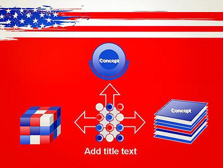 United States Flag Theme PowerPoint Slide 19