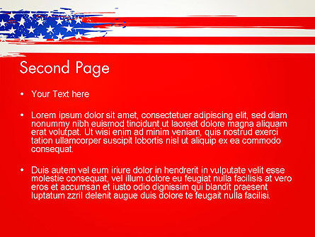 United States Flag Theme PowerPoint, Slide 2, 12931, America — PoweredTemplate.com