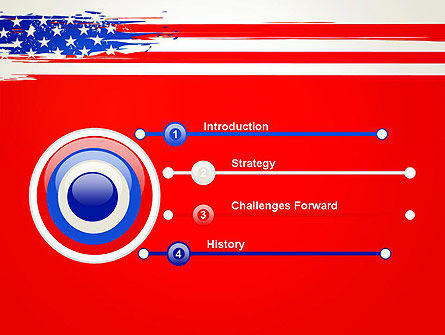 United States Flag Theme PowerPoint, Slide 3, 12931, America — PoweredTemplate.com