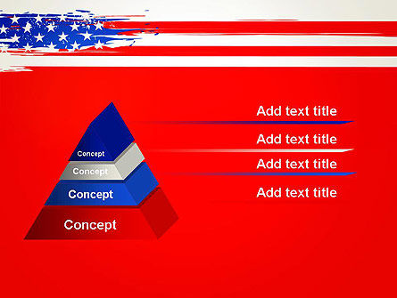 United States Flag Theme PowerPoint, Slide 4, 12931, America — PoweredTemplate.com